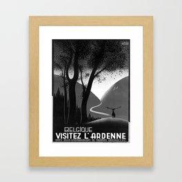 retro monochrome Belgique Ardenne Framed Art Print