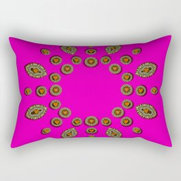 Sweet hearts in  decorative metal tinsel Rectangular Pillow