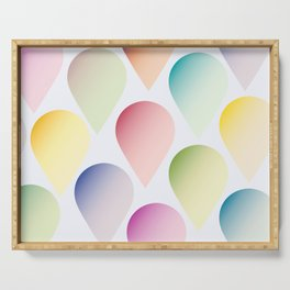 Candy colors balloons. Serving Tray