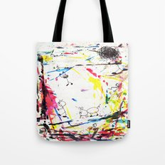 They Enjoy the Color Attack! Tote Bag
