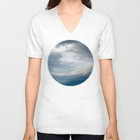 portal V-neck T-shirts featuring Portal by Nur Mut