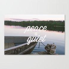 peace & quiet Canvas Print
