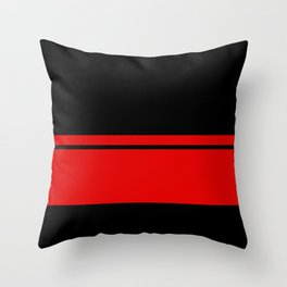 Red Racing Stripe Berlin Style Throw Pillow