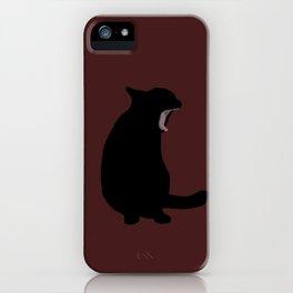 Blackie in Maroon iPhone Case