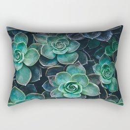 Succulent Blue Green Plants Rectangular Pillow