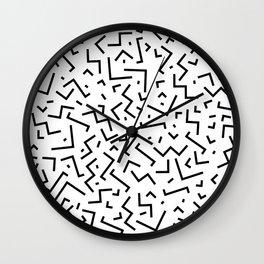 Memphis pattern 30 Wall Clock