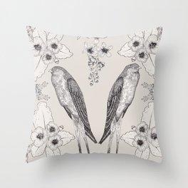Summer Swallow Throw Pillow