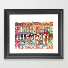 Evening in Poznań Framed Art Print