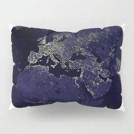 Earth Globe Lights Pillow Sham