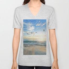 Beach Scene 34 Unisex V-Neck
