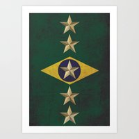 Minimalist Brazil Art Print