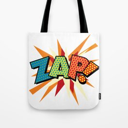 Comic Book Pop Art Sans ZAP! Tote Bag