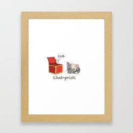 Chat-pristi Framed Art Print