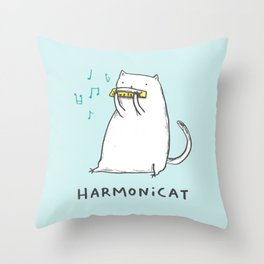 Harmonicat Throw Pillow