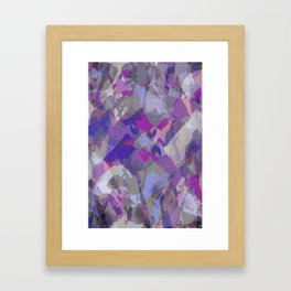 Moon Beam Abstract Framed Art Print