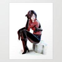 Resident Evil - Ada Wong Tribute Art Print