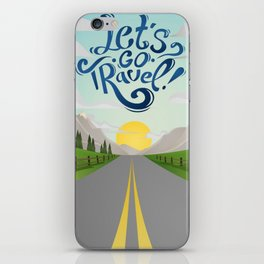 Let's Go Travel iPhone Skin