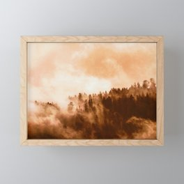 Clear away the fog to see the light. Sepia Framed Mini Art Print