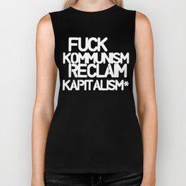 Fuck Kommunism Reclaim Kapitalism* (dark) Biker Tank