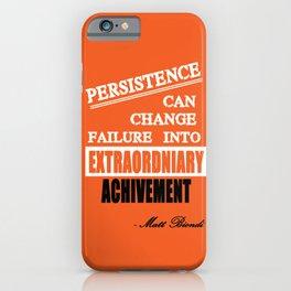 Matt Biondi swimmer Inspirational Typography Quote iPhone Case