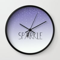 sparkle Wall Clocks featuring Sparkle by Zen and Chic