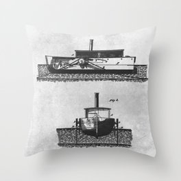 1879 Towing canal-boats Throw Pillow