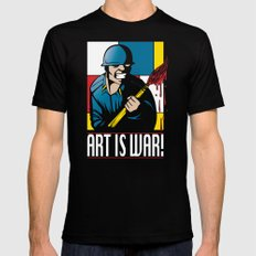 Art is War! Mens Fitted Tee Black MEDIUM