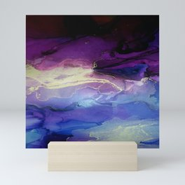 Pour your art out in lilac Mini Art Print