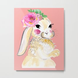 Mrs CoCo Rabbit Metal Print