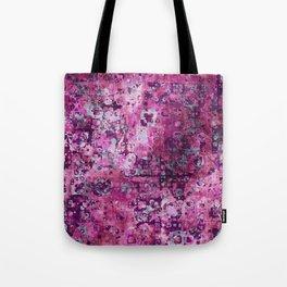 Messy Pink Foral Tote Bag