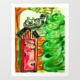 Outhouse Sentinel Art Print