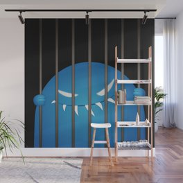 Blue Evil Monster Captured Wall Mural