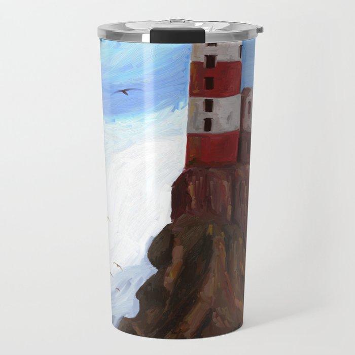 Lighthouse at the sea Travel Mug