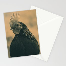 Rooster in Sepia Stationery Cards