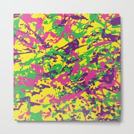 Bright Urban Camouflage Metal Print