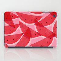 georgiana paraschiv iPad Cases featuring Watermelon by Georgiana Paraschiv