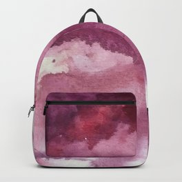 Blushing [2]: a minimal abstract watercolor and ink piece in shades of purple and red Backpack