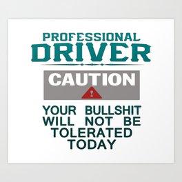 Truck Driver Safety Art Print