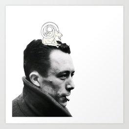 Camus and Mountain Goat Art Print