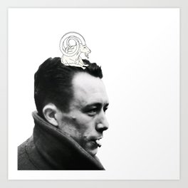 Camus and Mountain Goat Art Print