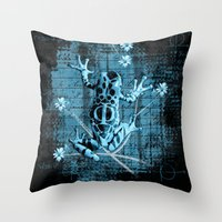 fringe Throw Pillows featuring Fringe by Veruca Crews