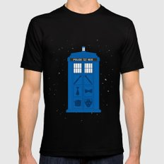 The Tardis Got Some Ink MEDIUM Black Mens Fitted Tee