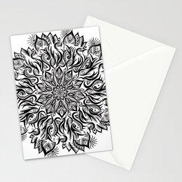 Fire-Black Stationery Cards