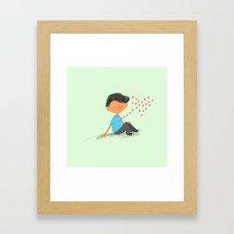 Boy in Love Framed Art Print