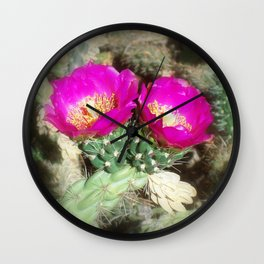 Magenta Twins Wall Clock