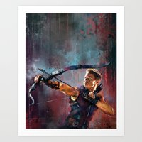 clint barton Art Prints featuring Clint Barton by Wisesnail