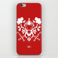 xmas iPhone & iPod Skins featuring XMAS by RUEI
