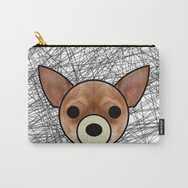 Furry Chihuahua Carry-All Pouch
