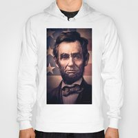 lincoln Hoodies featuring Lincoln by Dominick Saponaro