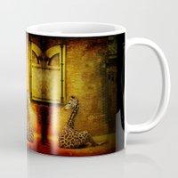 giraffes Mugs featuring Giraffes by LudaNayvelt